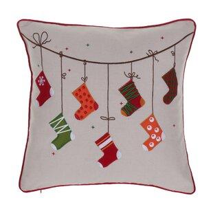 Broadlands Christmas Stocking Throw Pillow