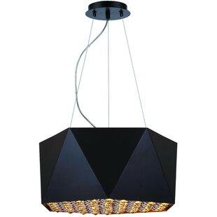 Brayden Studio Hammitt 4-Light Geometric Chandelier