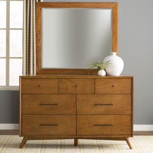 Parocela 7 Drawer Double Dresser with Mirror