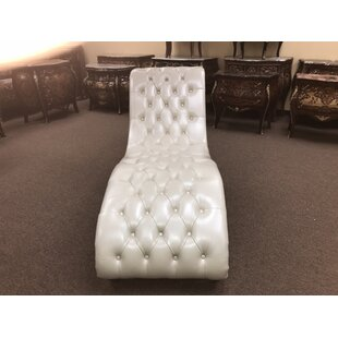 Canora Grey Paul Leather Chaise Lounge