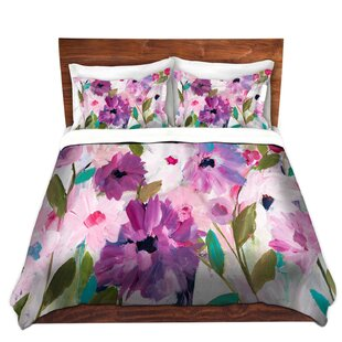 DiaNoche Designs Blossoming Flowers Duvet Cover Set