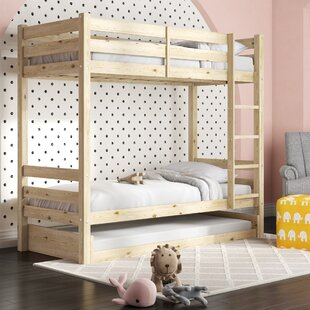 Eric Single Bunk Bed With Trundle By Harriet Bee