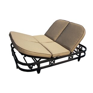 Aldrich Double Reclining Chaise Lounge With Cushion by Darby Home Co Great Reviews