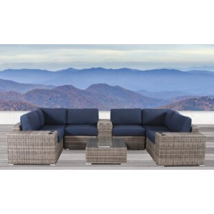 Lue 10 Piece Sunbrella Sectional Set with Cushions by Longshore Tides