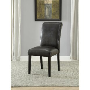 Ellettsville Upholstered Rolled Back Dining Chair (Set of 2) Alcott Hill