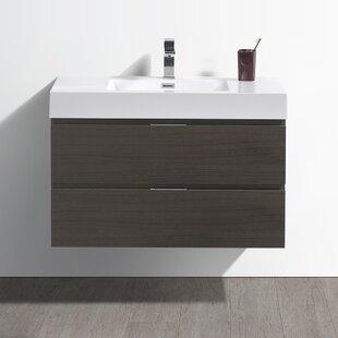 Reviews Senza Valencia 36 Single Bathroom Vanity Set ByFresca