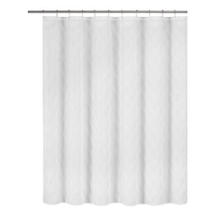 Briele Metallic Embroidered Shower Curtain