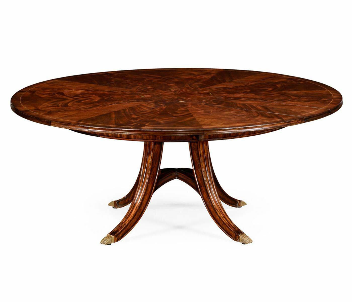 Jonathan Charles Fine Furniture Buckingham Circular Extendable Solid Wood Dining Table Perigold