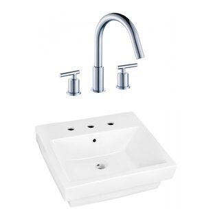 Price Check Ceramic Rectangular Bathroom Sink with Faucet and Overflow By Royal Purple Bath Kitchen
