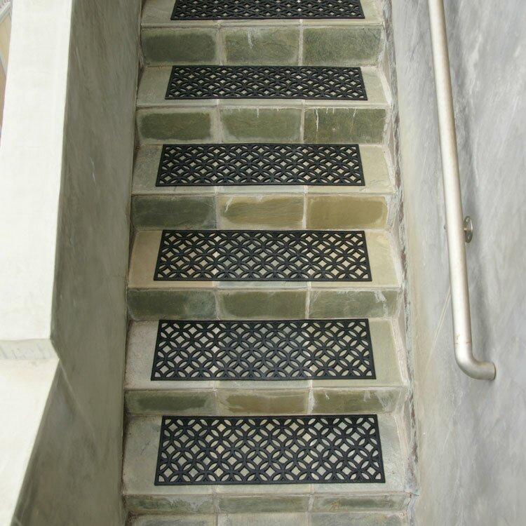 Superieur Azteca Indoor Outdoor Stair Tread Rubber Step Mat Set