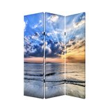 Eves  Seaside Serenity 3 Panel Room Divider by Latitude Run