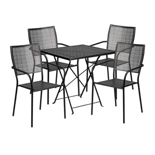 Winston Porter Speedwell Outdoor Steel 5 Piece Dining Set
