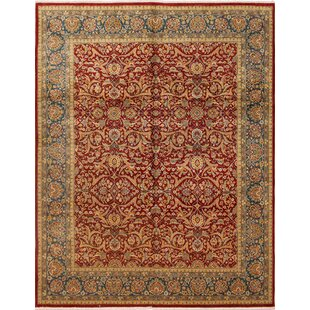 Compare Riverton Turkish Hand Knotted Wool Red Area Rug ByAstoria Grand