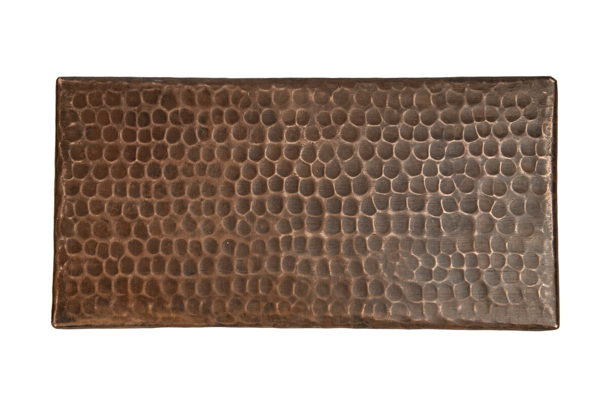 Premier copper products 4 x 8 hammered copper tile in oil rubbed 4 x 8 hammered copper tile in oil rubbed bronze dailygadgetfo Gallery