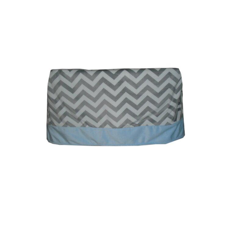 Babydoll Bedding Minky Chevron Crib Skirt Wayfair Ca