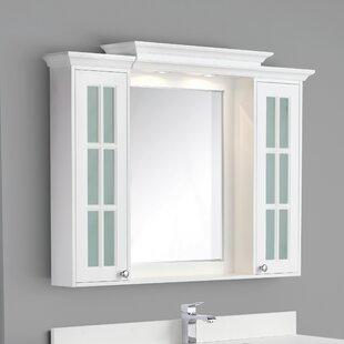 Monterey 48 x 36 Surface Mount Medicine Cabinet with 6 Adjustable Shelves ByHarper Beach