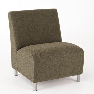 Black Leather Armless Chair | Wayfair