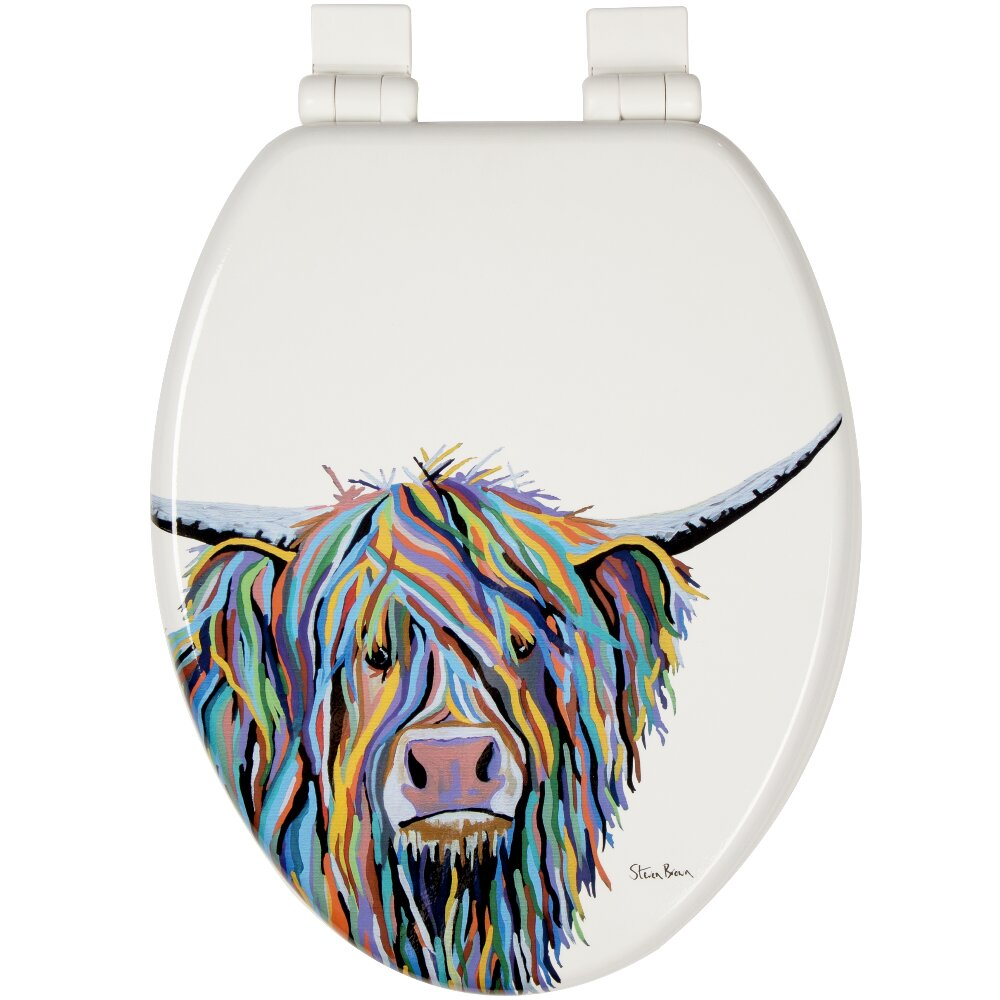 Tremendous Angus Mccoo Art By Steven Brown Stick Tight Elongated Toilet Seat With Soft Close And Quick Release Onthecornerstone Fun Painted Chair Ideas Images Onthecornerstoneorg