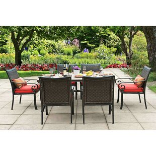Red Barrel Studio Dauphin 7 Piece Dining Set with Cushions