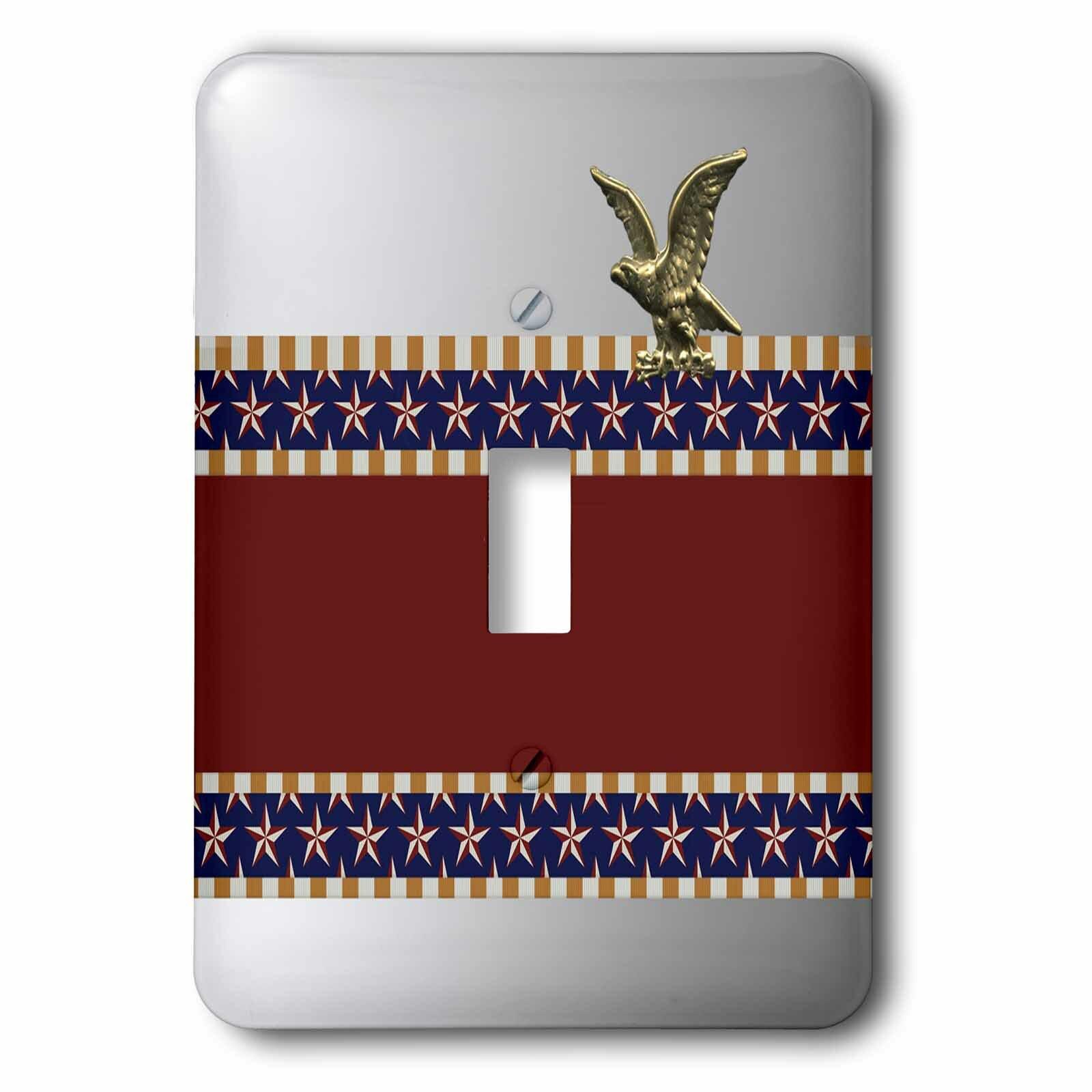 3drose Gold Eagle Stars 1 Gang Toggle Light Switch Wall Plate Wayfair