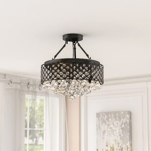 Gracelyn 4-Light Semi Flush Mount by House of Hampton