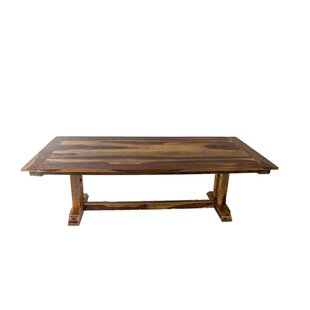 Rose Solid Wood Dining Table Loon Peak