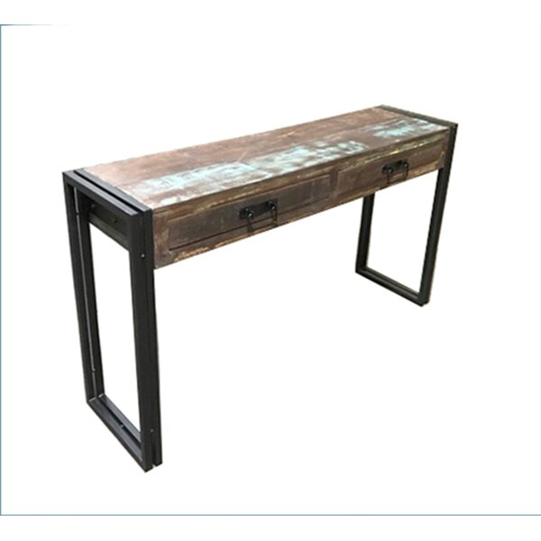 Breakwater Bay Julianna Old Reclaimed Wood Console Table With Metal Legs Reviews Wayfair