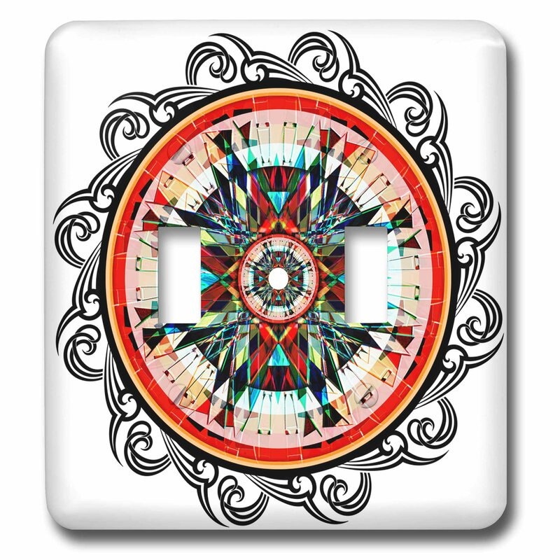 3dRose Totally Totem Earth Tone Colors Are Used In This Native American  Graphic Design 2-Gang Toggle Light Switch Wall Plate Wayfair