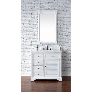 Osmond 36 Single Rectangular Sink Cottage White Bathroom Vanity Set by Greyleigh