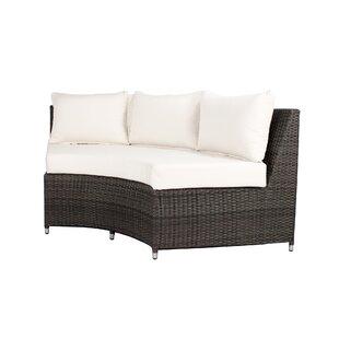 Brayden Studio Rorie Round Sofa with Cushions
