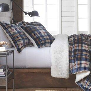 Vellux Ethan Plush Sherpa Plaid Comforter Set