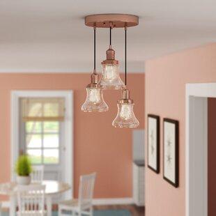 Beachcrest Home Nardone 3-Light Cluster Pendant