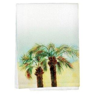 Coastal Palms Bath Towel (Set of 2) by Betsy Drake Interiors
