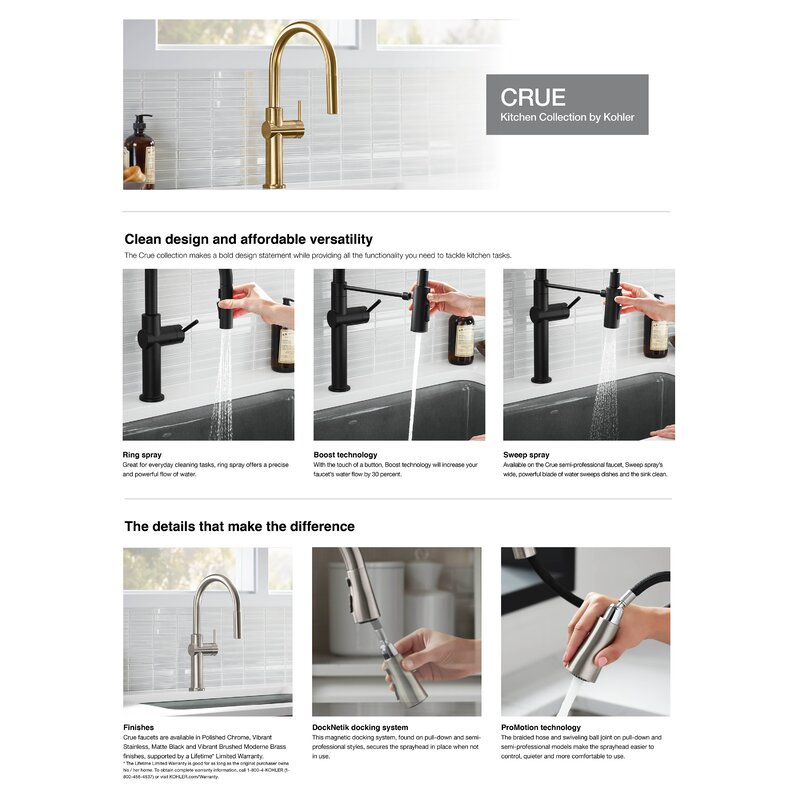 Kohler Crue Single Handle Kitchen Faucet Reviews