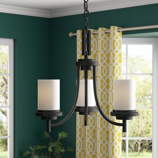 Three Posts Dashiell 3-Light Shaded Chandelier