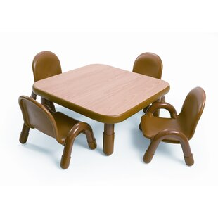 Square Baseline Toddler Table And Chair Set in Natural  sc 1 st  Wayfair & Personalized Toddler Chair | Wayfair