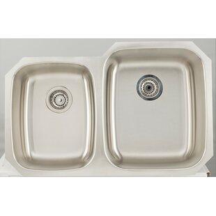 32 L x 21 W Double Basin Undermount Kitchen Sink