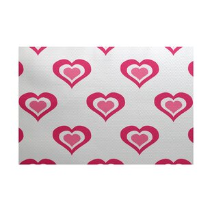 Valentine's Day Fuchsia Indoor/Outdoor Area Rug