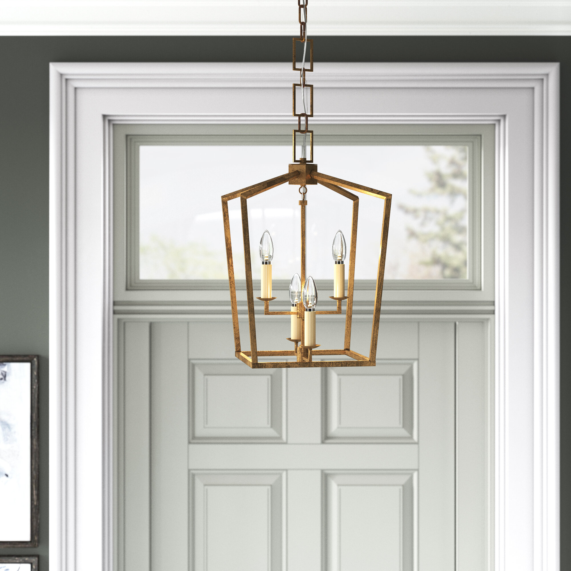 Conroy 4 Light Lantern Geometric Pendant Reviews Joss Main