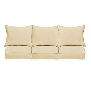 6 Piece Piped Indoor/Outdoor Sunbrella Sofa Cushion Set