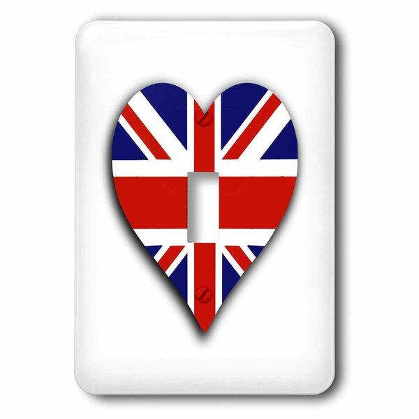 3drose British Flag Heart 1 Gang Toggle Light Switch Wall Plate Wayfair