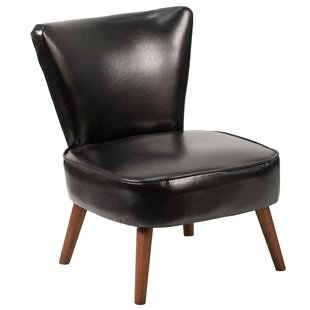 Bhavin Black LeatherSoft 2025 Side Chair by George Oliver