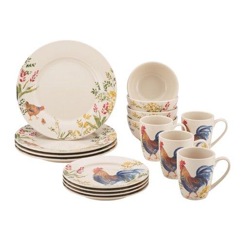 Paula Deen Southern Rooster Dinnerware Set