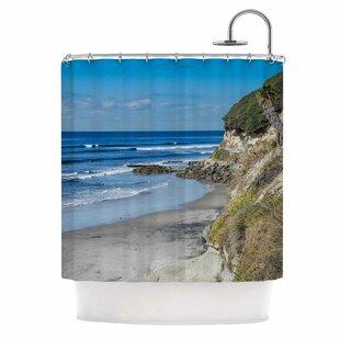 Swamis Beach Coast by Nick Nareshni Coastal Single Shower Curtain
