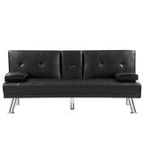 Baesemann Genuine Leather 66.2 Armless Sleeper by Latitude Run®
