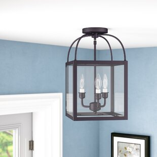 Brundidge 3-Light Convertible Semi Flush Mount by Alcott Hill