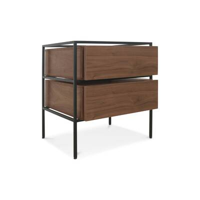 Open Frame 2 Drawer Nightstand