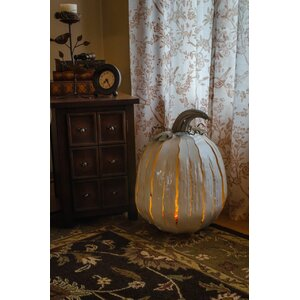 XL White Pumpkin Luminary
