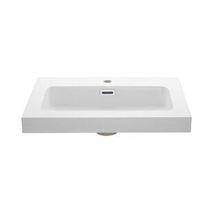 Look for Rectangular Drop-In Bathroom Sink with Overflow By Ryvyr