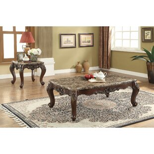 Rockmart Scalloped Living Room 2 Piece Coffee Table Set